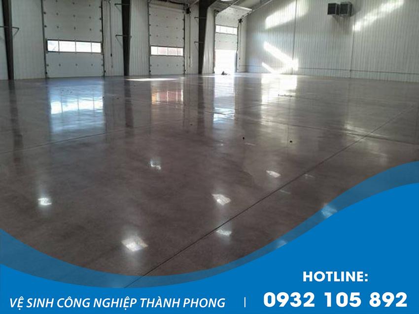 Thành Phong cung cấp dịch vụ mài sàn bê tông phủ bóng uy tín, chất lượng