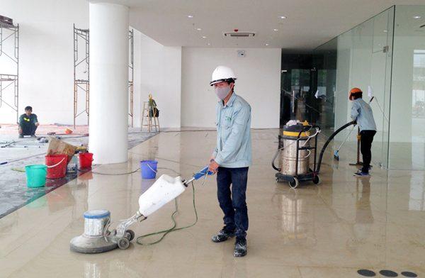 vệ sinh công trình tại Long An