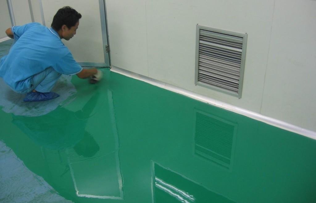 Sơn sàn Epoxy giúp sàn nhà xưởng công trình bóng đẹp, an toàn hơn